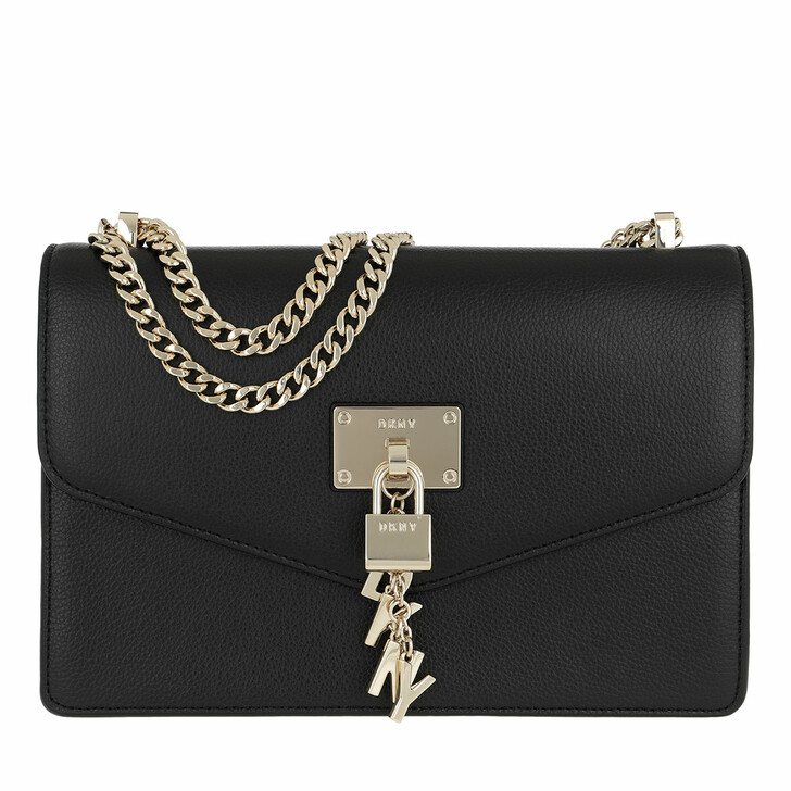 Handtasche, DKNY, Elissa  Large Shoulder Blk/Gold