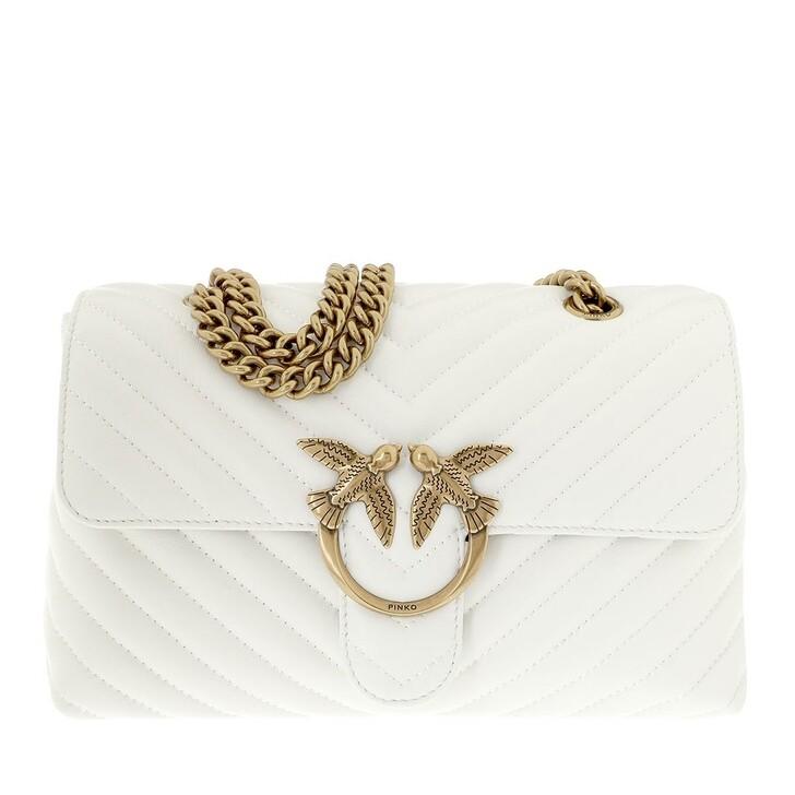 Handtasche, Pinko, Love Lady Puff V Quilt Crossbody White