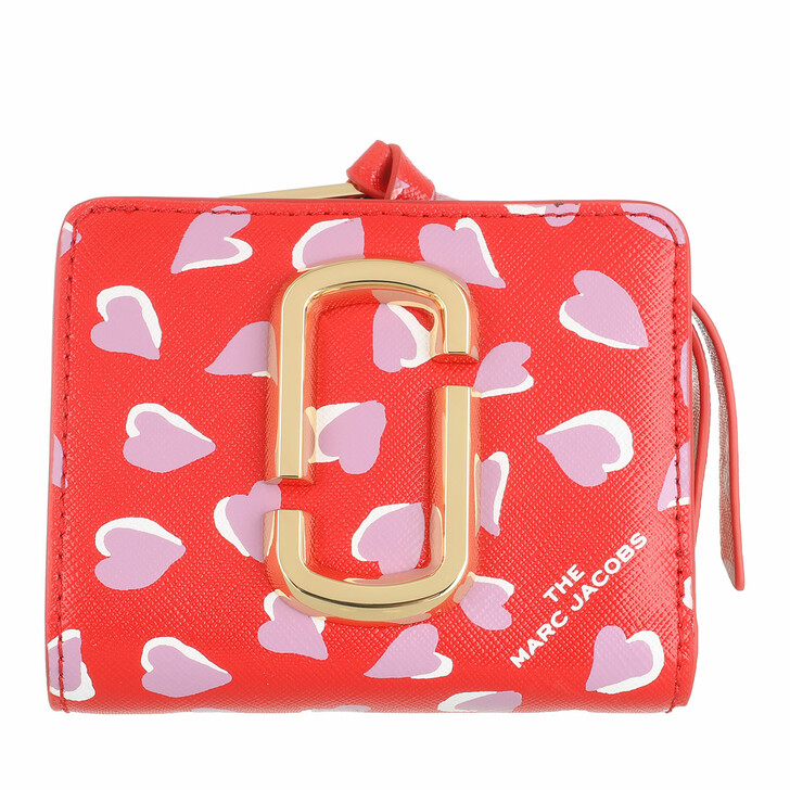 wallets, Marc Jacobs, The Snapshot Compact Wallt Printed Hearts Red