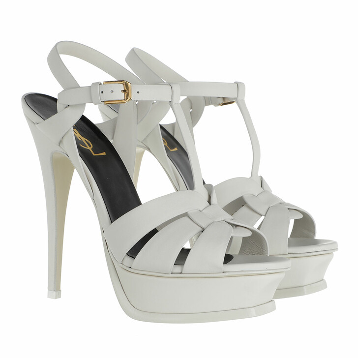 Schuh, Saint Laurent, Tribute Sandals White