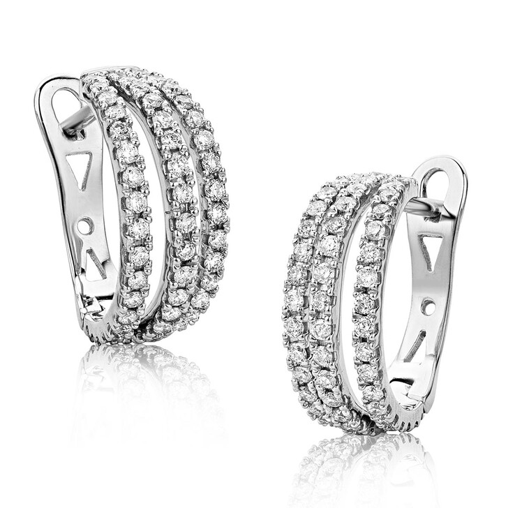 Ohrring, DIAMADA, 0.6ct Diamond Earring 18KT White Gold