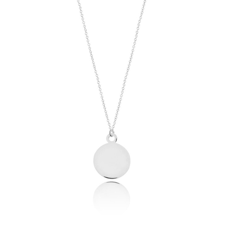 necklaces, Leaf, Necklace Plate 14k White Gold