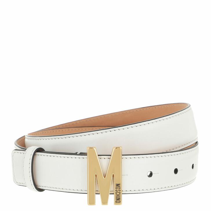 belts, Moschino, Belt Bianco
