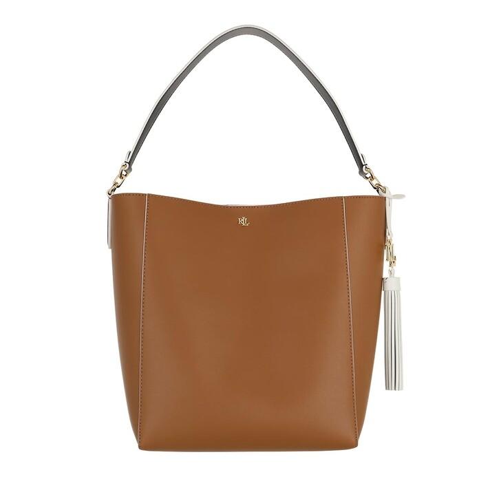 Handtasche, Lauren Ralph Lauren, Adley 25 Shoulder Medium Lauren Tan/Black/Vanilla