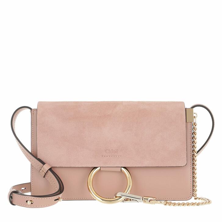 Handtasche, Chloé, Faye Shoulder Bag Suede Calfskin Misty Rose