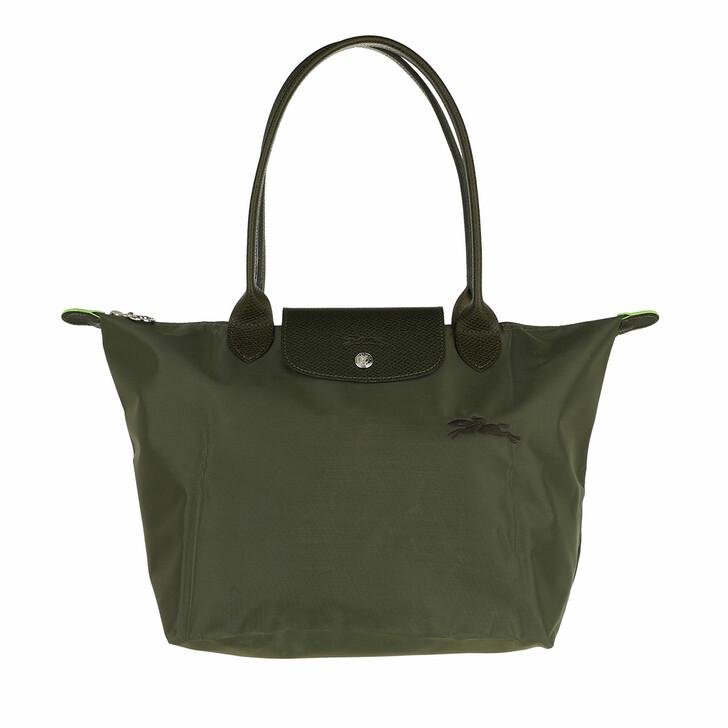 bags, Longchamp, Le Pliage Green Shoulder Bag Spruce