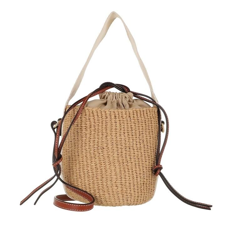 Handtasche, Chloé, Small Woody Basket Bag White