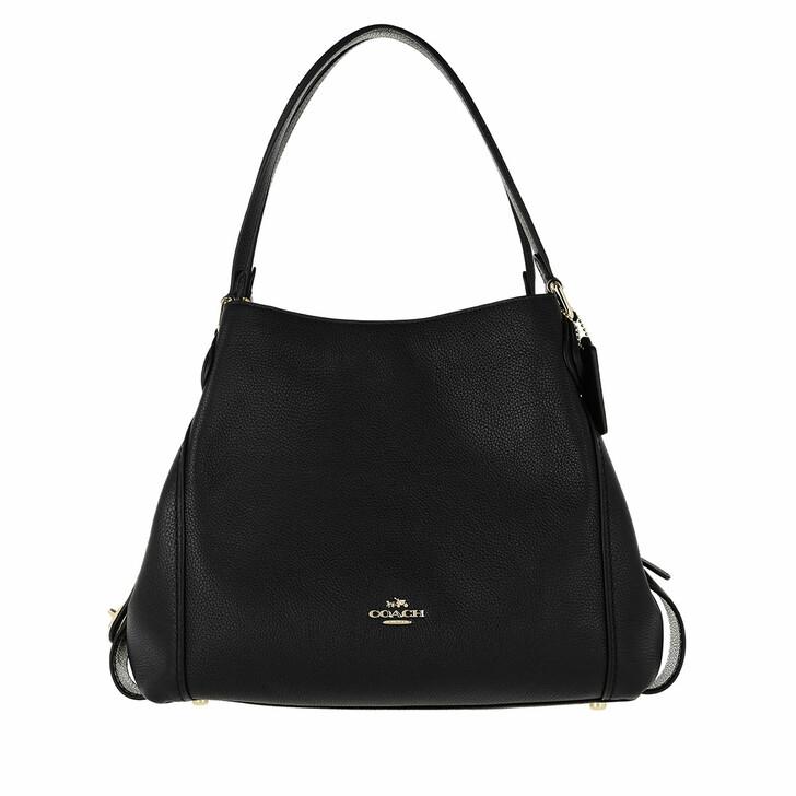 Handtasche, Coach, Polished Pebble Leather Edie 31 Shoulder Bag Black