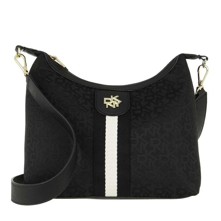Handtasche, DKNY, Carol Medium Pouchette Black Logo
