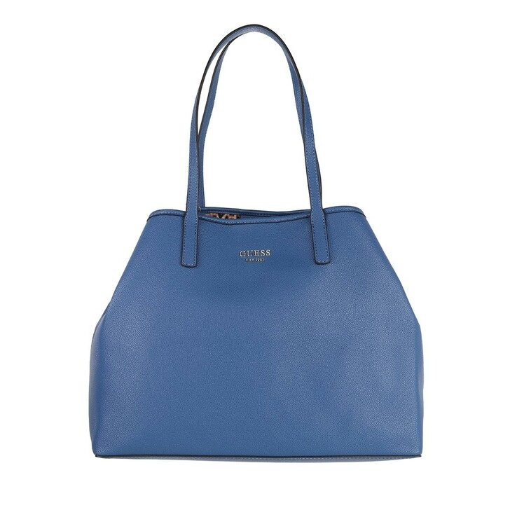 bags, Guess, Vikky Large Tote Blue