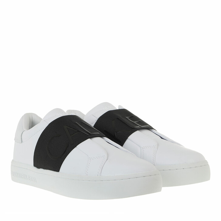 Schuh, Calvin Klein, Cupsole Slip On Sneakers Leather White