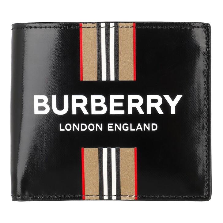Geldbörse, Burberry, Wallet Leather Black/Archive Beige