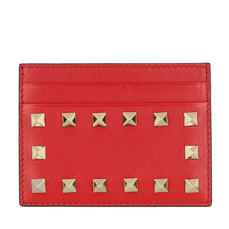Geldbörse, Valentino Garavani, Card Holder Leather Rouge