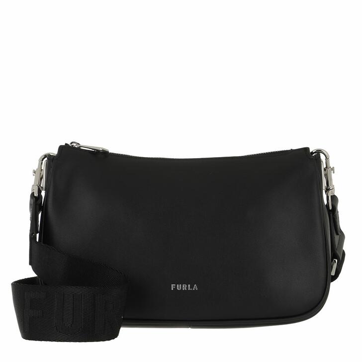 bags, Furla, Furla Moon Small Shoulder Bag Nero