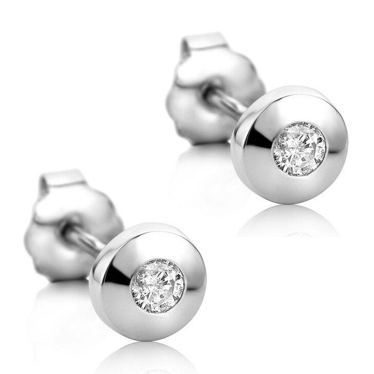 Ohrring, DIAMADA, 14KT Diamond Earrings White Gold