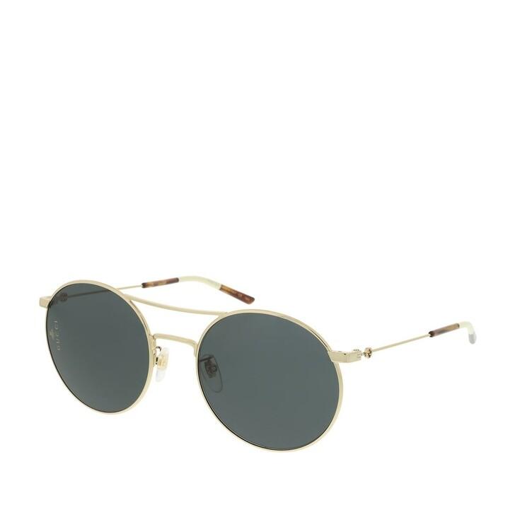 Sonnenbrille, Gucci, GG0680S-001 56 Sunglasses Gold-Gold-Grey