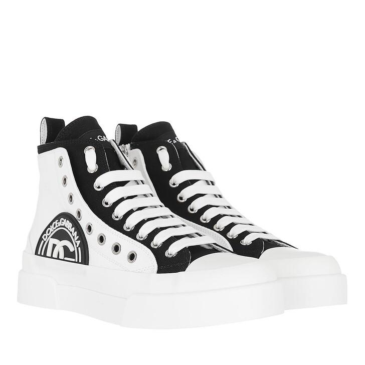 shoes, Dolce&Gabbana, Portofino Mid Top Sneakers White/Black