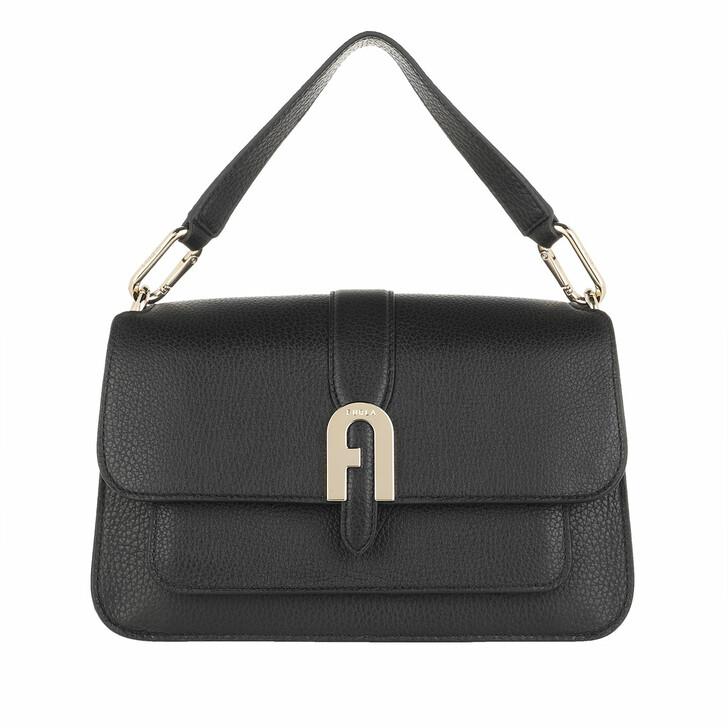 Handtasche, Furla, Sofia Grainy Small Top Handle Bag Nero