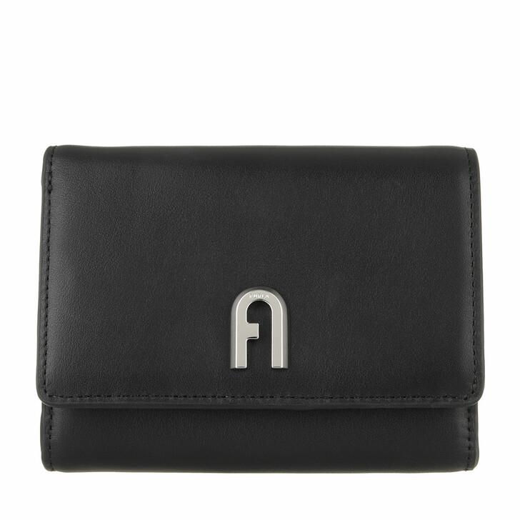 Geldbörse, Furla, Furla Moon M Compact Wallet - Vitello Roma Nero