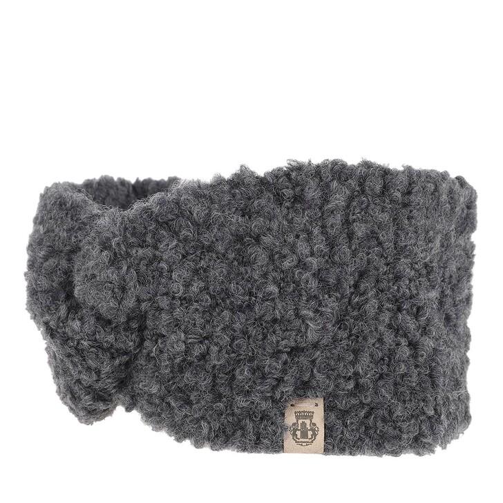Schal, Roeckl, Snowflake Boucle Headband Anthracite