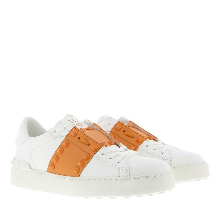 shoes, Valentino Garavani, Rockstud Sneakers Leather Bianco/Pale Apricot