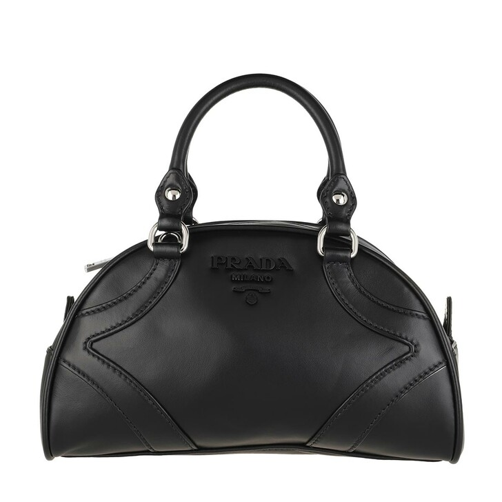 Handtasche, Prada, Bowling Bag Leather Black