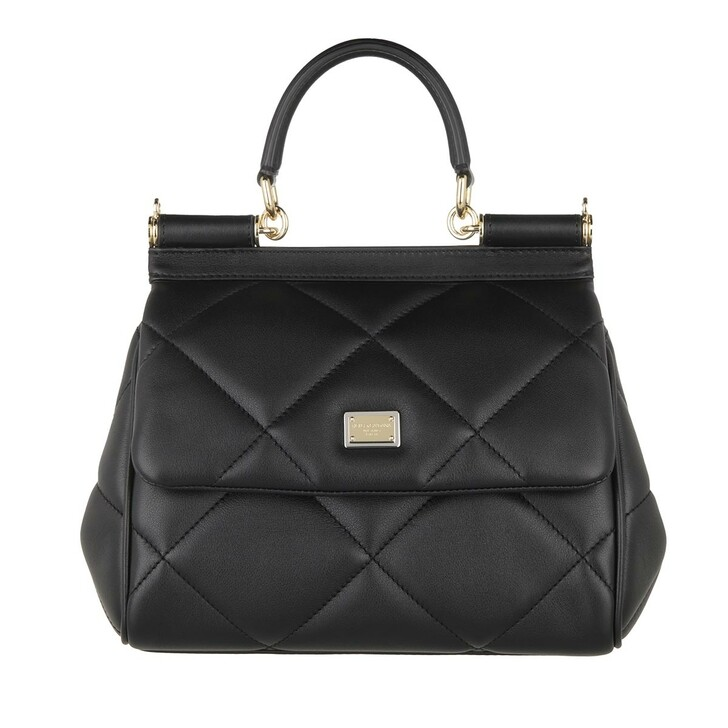 Handtasche, Dolce&Gabbana, Sicily Small Handle Bag Black