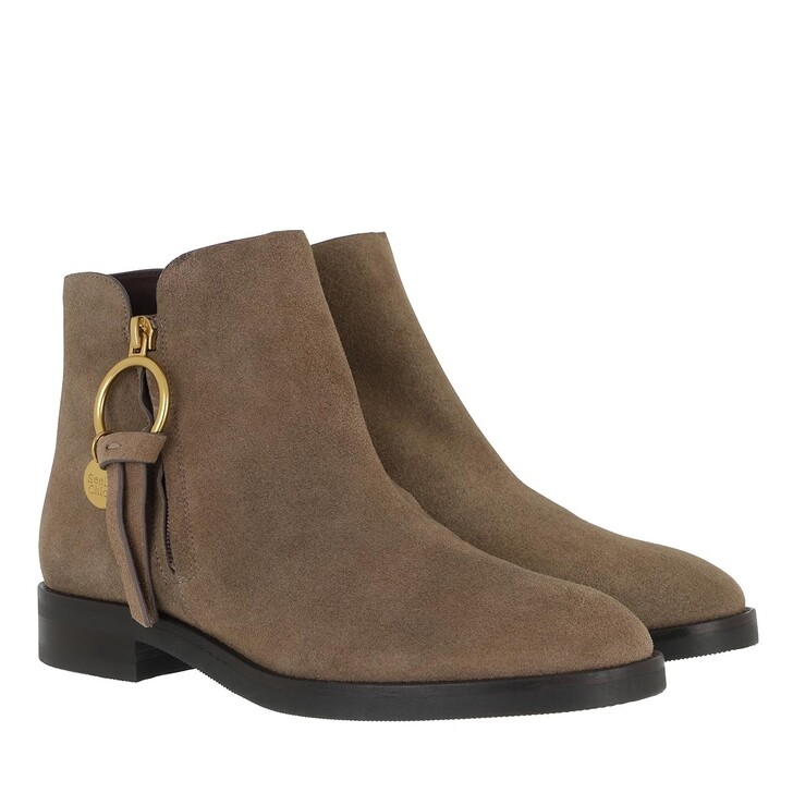 shoes, See By Chloé, Boots Leather Taupe