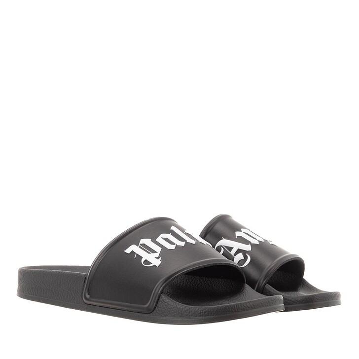 Schuh, Palm Angels, Pool Slider   Black White