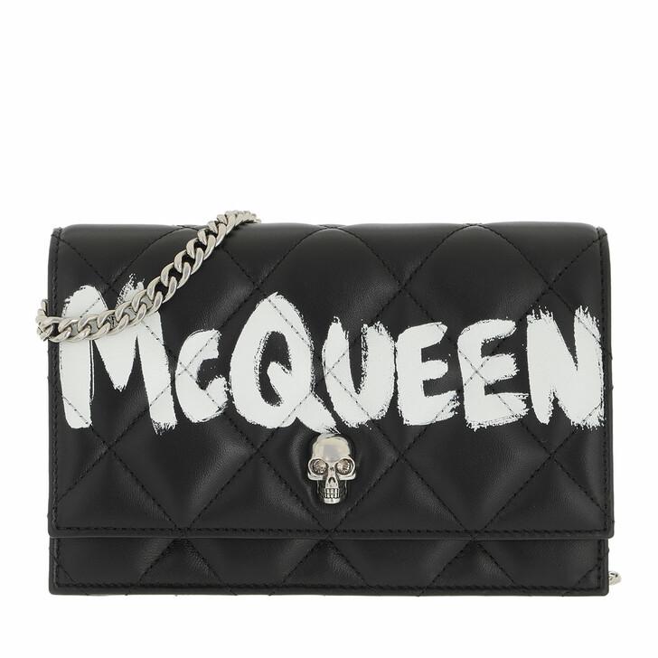 bags, Alexander McQueen, Small Skull Crossbody Bag Black Ivory