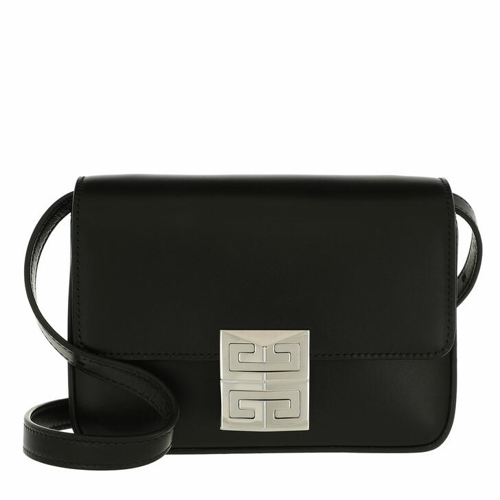 bags, Givenchy, Logo Lock Crossbody Bag Leather Black