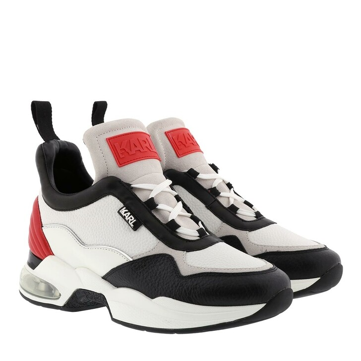Schuh, Karl Lagerfeld, Ventura Lazare Mid Leather White Red