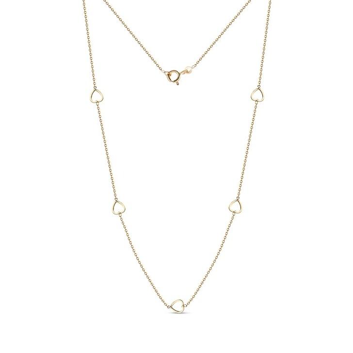 Kette, DIAMADA, Heart Necklace  18KT Yellow Gold
