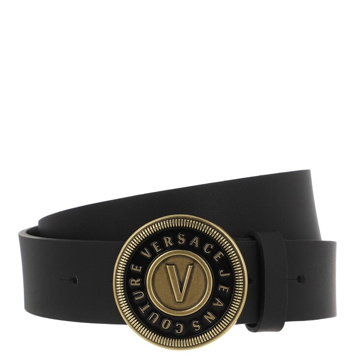 Gürtel, Versace Jeans Couture, Buckle Belt Leather Black