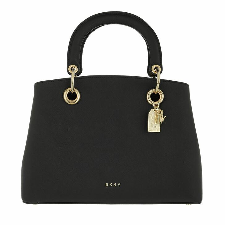 Handtasche, DKNY, Tonny Medium Satchel Black Gold