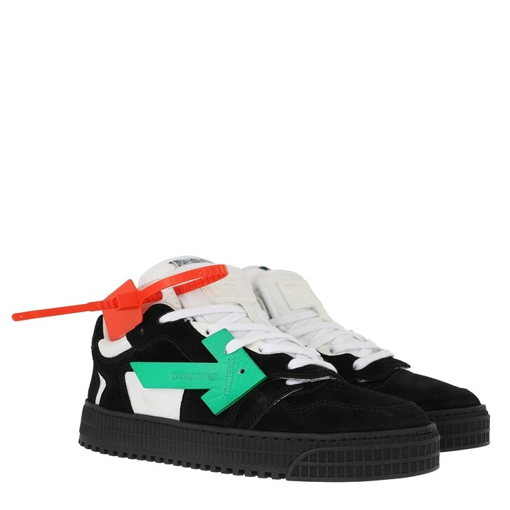 shoes, Off-White, Low Sneakers Black Green