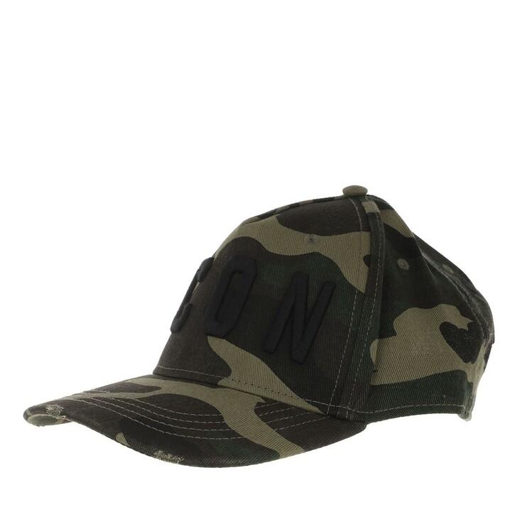 Mütze, Dsquared2, Icon Baseball Cap Camouflage/Black