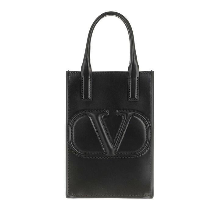 Smartphone/Tablet case (Bag), Valentino Garavani, Smartphone Case Leather Black