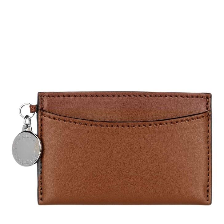 wallets, Stella McCartney, Card Holder Eco Alter Nappa Dark Cinnamon