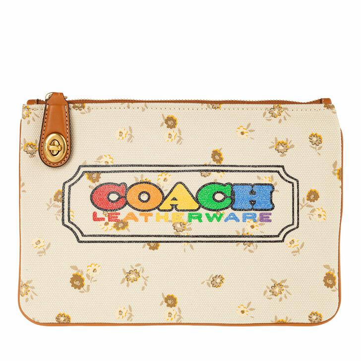 Handtasche, Coach, Rainbow Signature Coach Canvas Turnlock Pouch Multi