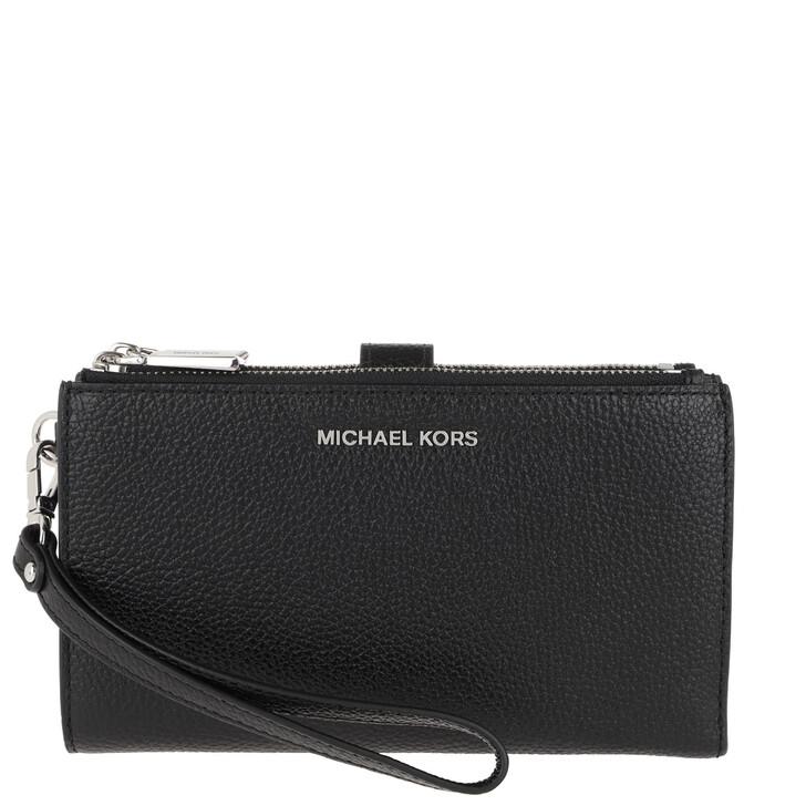 wallets, MICHAEL Michael Kors, Jet Set Doublezip Wristlet Black