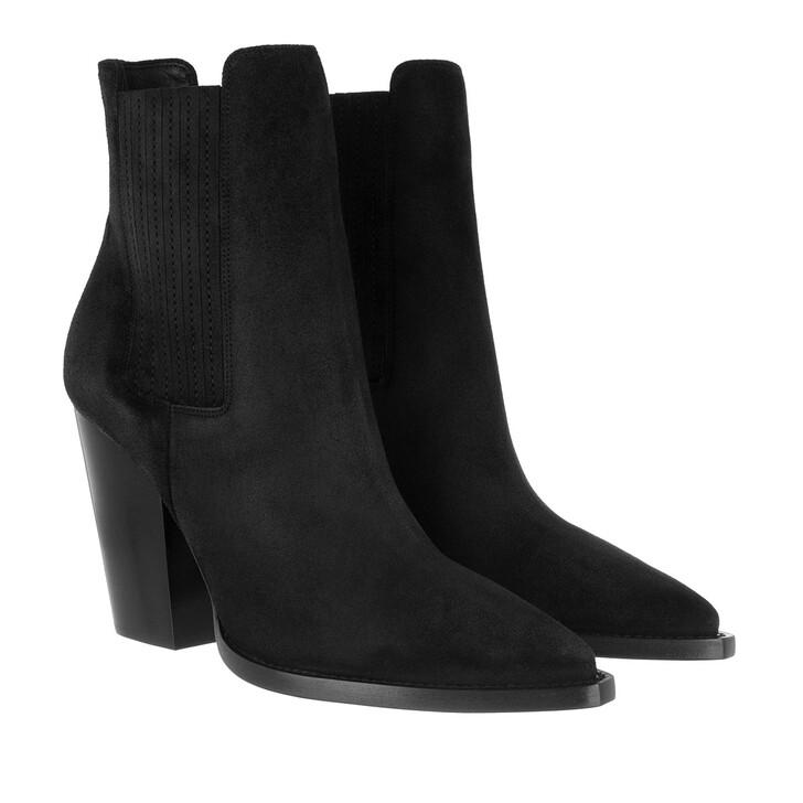 shoes, Saint Laurent, Theo Chelsea Boots Suede Black