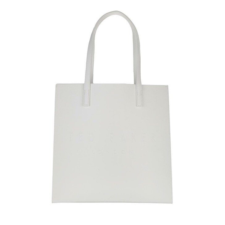 bags, Ted Baker, Crosshatch Large Icon Bag White