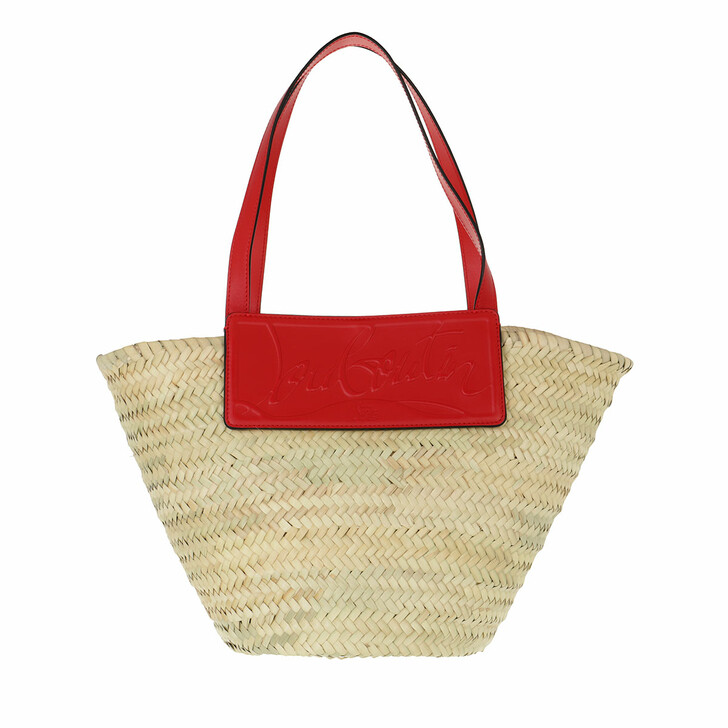 bags, Christian Louboutin, Loubishore Shoulder Bag Natural Red