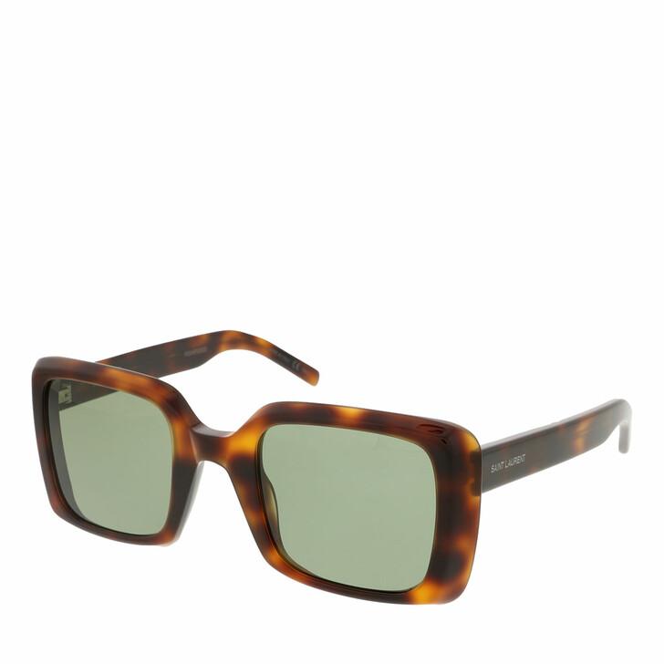 sunglasses, Saint Laurent, SL 497-002 51 Sunglass Woman Acetate Havana-Havana-Green