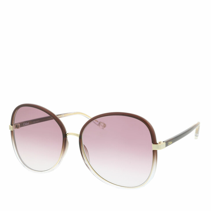 Sonnenbrille, Chloé, Sunglass WOMAN INJECTION BROWN-BROWN-VIOLET