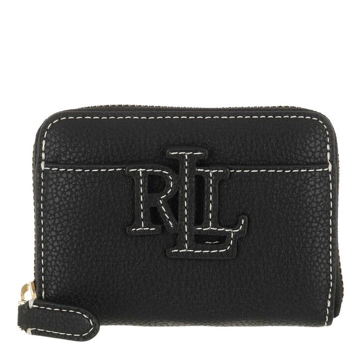 Geldbörse, Lauren Ralph Lauren, Logo Zip Wallet Small Black/Ecru