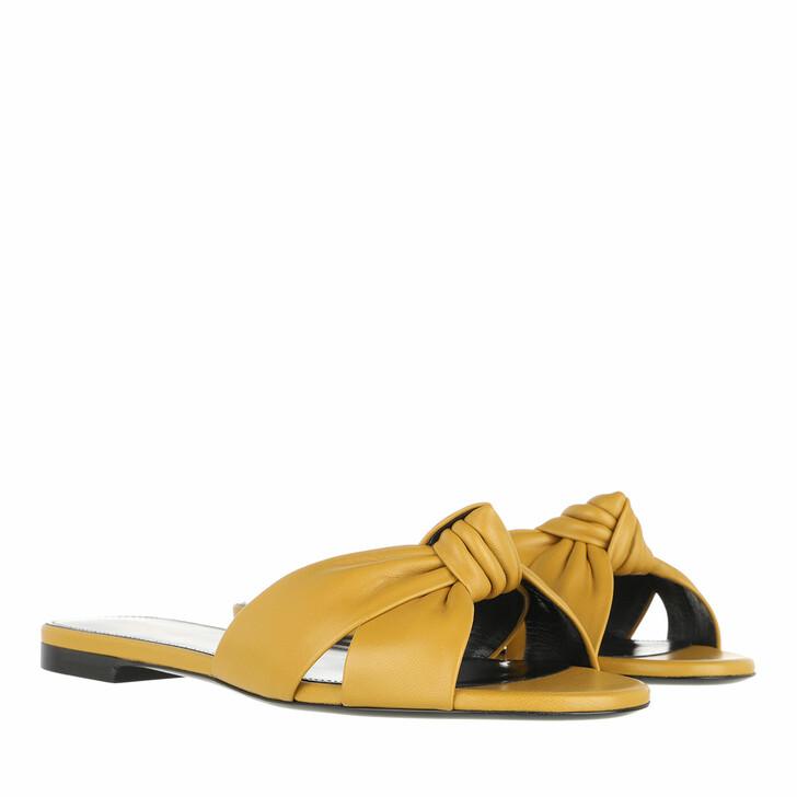 Schuh, Saint Laurent, Flat Sandals Safari Khaki