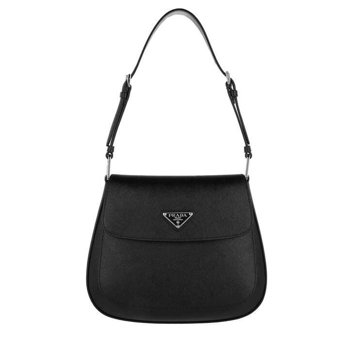 bags, Prada, Cleo Satchel Bag Leather Black