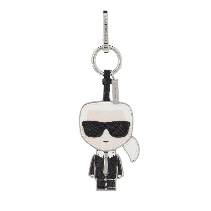 keyrings, Karl Lagerfeld, Ikonik Karl Keychain  Black/White